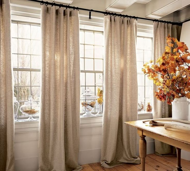 Living Room Large Windows: 25+ Best Ideas About Pottery Barn Curtains On Pinterest