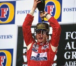 Em 1993, no Grande Prêmio da Austrália, ano em que Senna se despedia da McLaren (Foto: Norio Koike )