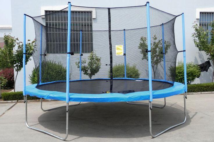 NEU! 430cm Trampolin-Komplettset (mit Gartentrampolin, Netz, Plane & Leiter) | eBay