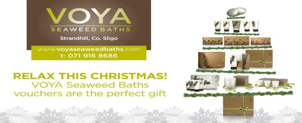 Voya Bath and Beauty products make the pefrect luxury gifts this Christmas. Available at www.voya.ie, Strandhill, Kate's Kitchen, or Johnstons Court Shopping Centre.
