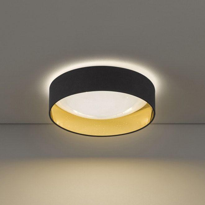 Honsel LED Deckenleuchte Sete, schwarzgold, 40cm Die