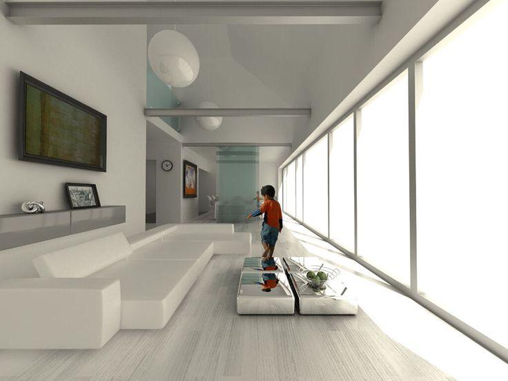 Projekt  dom jednorodzinny pod Warszawą otwarty salon