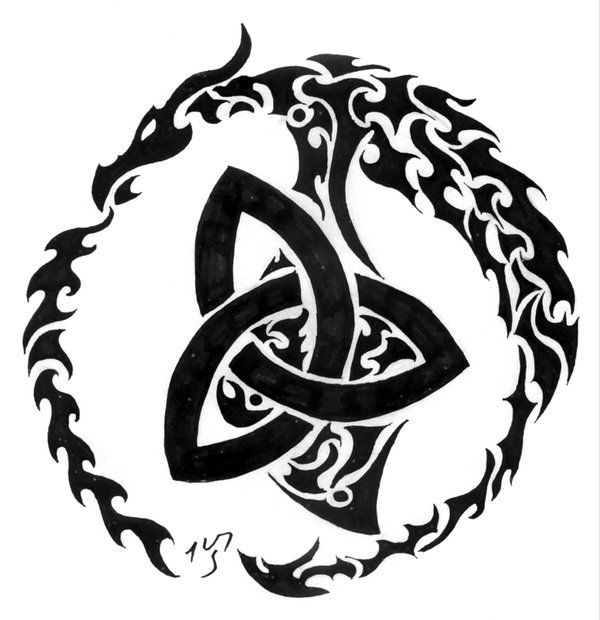 celtic dragon II by Sakashima.deviantart.com on @DeviantArt