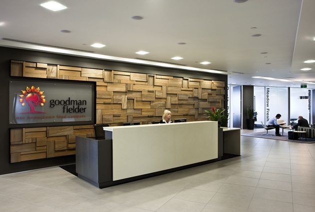 Feature wall in reception. | Office Interiors | Pinterest ...