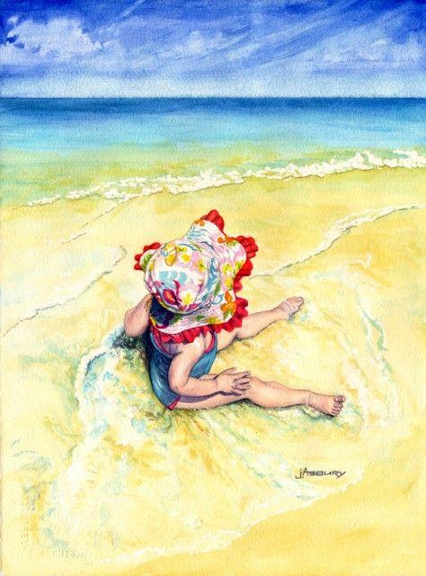 Beach-Hat-Watercolor-Art