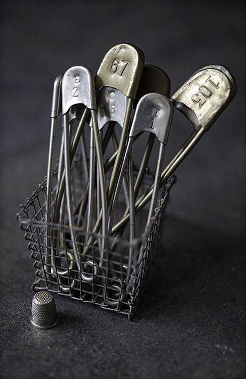 Points to you if you can remember what these are... Hint:  They are NOT diaper pins or anything in connection with babies.  These were basket pins you put on your swim suit and the number was the number of your basket that held all you stuff in...God I'm really old!