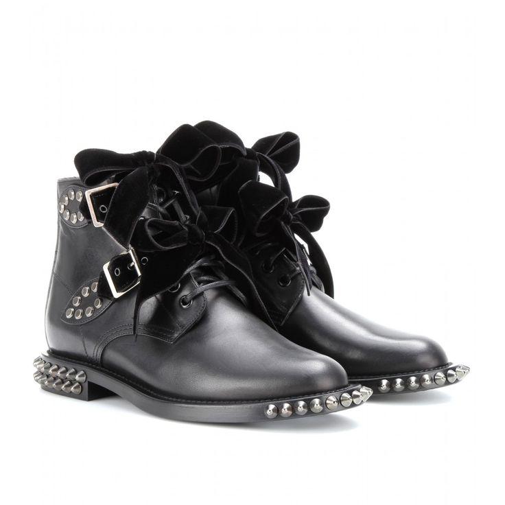 Shop now: Saint Laurent Rangers Studded Leather Boots