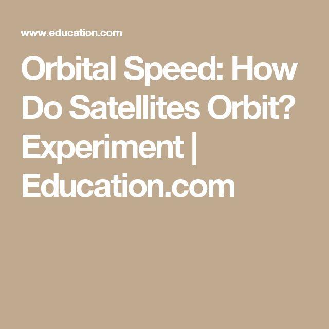 Orbital Speed: How Do Satellites Orbit? Experiment | Education.com
