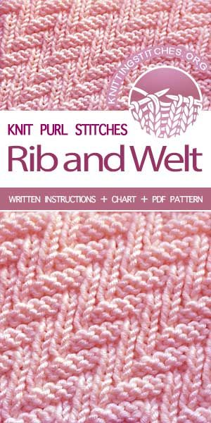 0d1738dffa5 Free Knitting Patterns —  KnitPurl Rib   Welt stitch  knittingpatterns