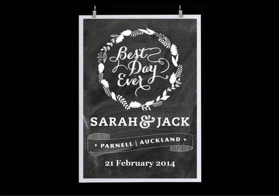 Best Day Ever  Custom Print by HarlanCreative on Etsy, $50.00