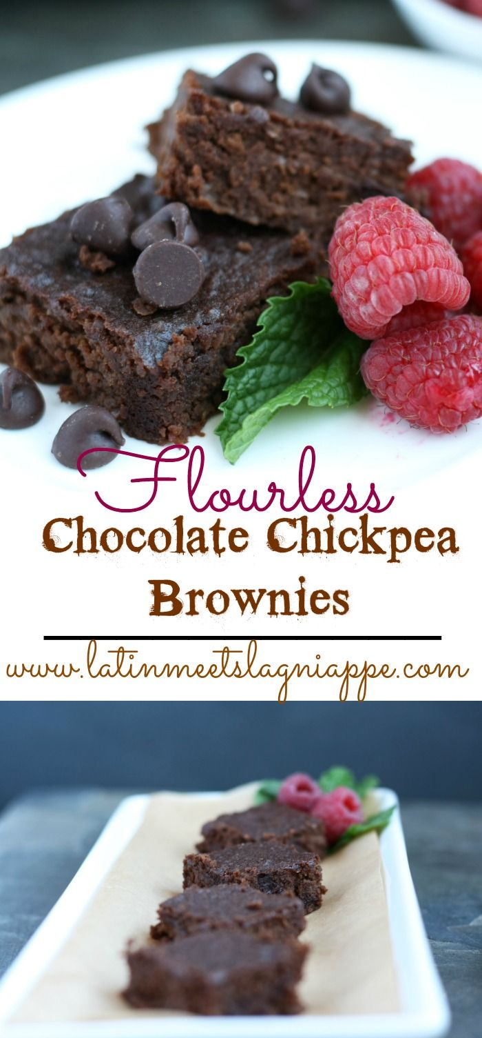 Moist, chocolate-y, and absolutely delicious, you won't miss the flour a bit in these Flourless Chocolate Chickpea Brownies!