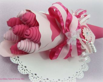 Baby Bouquet Baby Shower Gift Baby Washcloth Bouquet Baby