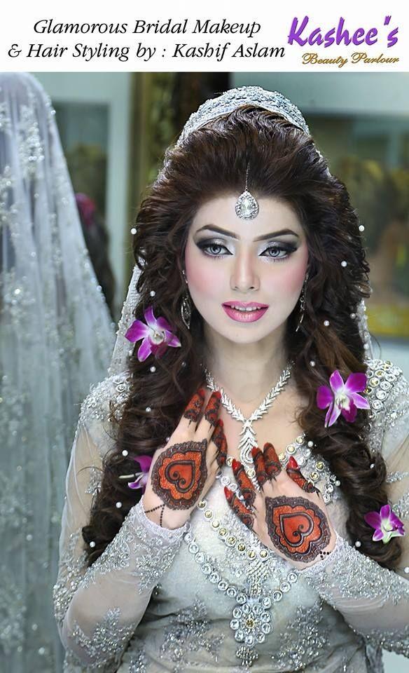 Glamorous Valima bridal makeup by kashif aslam