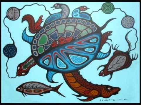 "Best Copper Thunderbird Blog!! -~ Anishibaabek Ogichiidaa Sundance Turtle song by Desi Dillionan Artwork presented: ""Recreation Myth"", © Carl Ray (apprentice to Morrisseau) Estate"