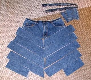 Jeans to unique skirt