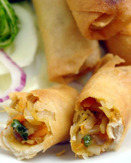 Recette végétarienne Rouleaux croustillants - Cuisine vegetarienne et recettes indiennes video