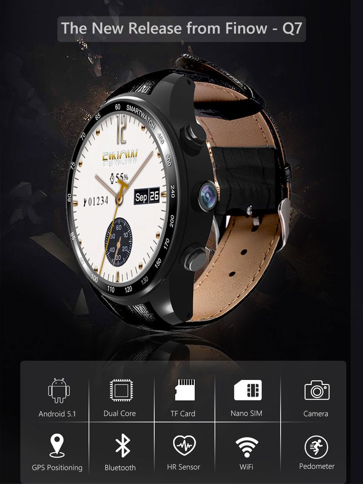 Q7 PLUS Android 5.1 Heart Rate Monitor Pedometer GPS Camera 3G Wifi Bluetooth Smart Watch For iOS Android Sale - Banggood.com  #smartphones #cellphones #mobile #accessories #smartwatch