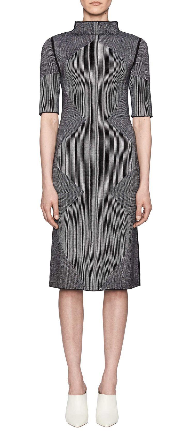 Women's REVERSIBLE ELBOW SLEEVE MOCK NECK DRESS | TSE TSE