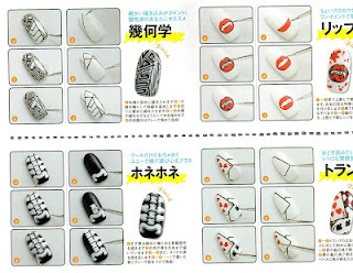 gothic nail art, step by step
