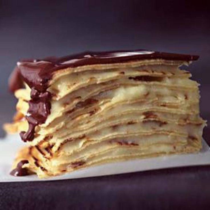 Chocolate Eclair Crepe Cake - Rachael Ray Every Day