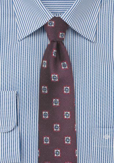 Krawatte Ornamente dunkelrot