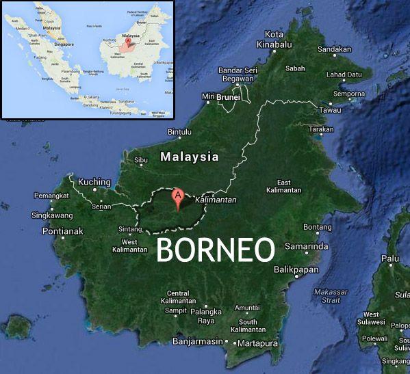 Map of Kapuas Hulu, West Kalimantan, Indonesia