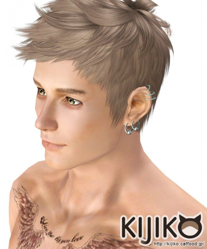 Faux hawk hair 017 for males by Kijiko - Sims 3 Downloads CC Caboodle