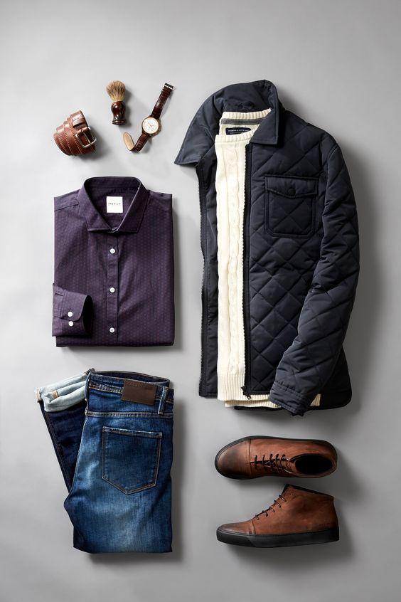 #jeans #shirt #coat