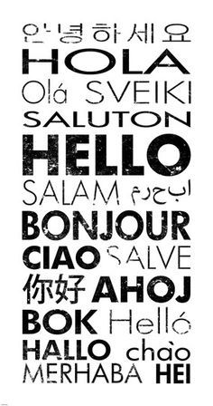 28 best Hello Different Languages images on Pinterest