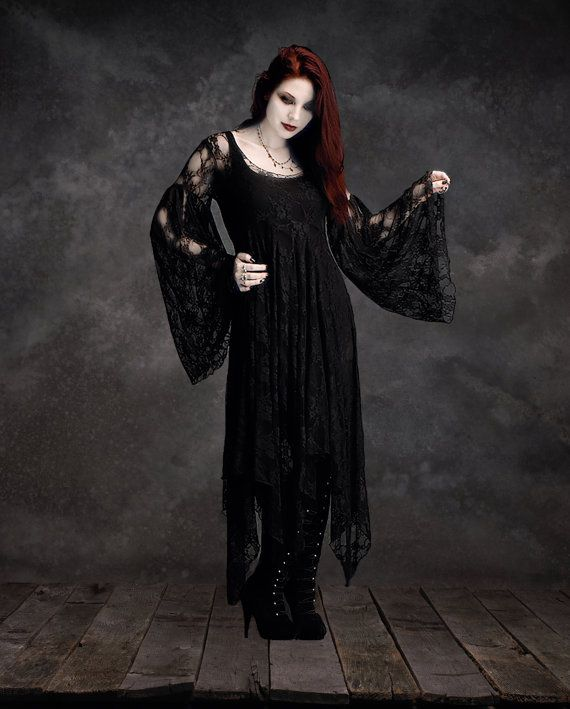 Phaedra Fairy Dress in Lace  Handmade Gothic by rosemortem on Etsy, $329.00