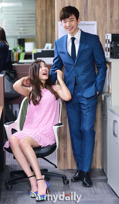[MD포토] 이준호,윤소희 '눈빛에 나타나는 달달함'