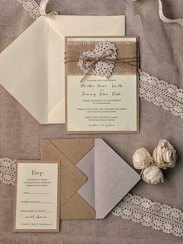 MOD Finds: Rustic Chic Wedding Invitations