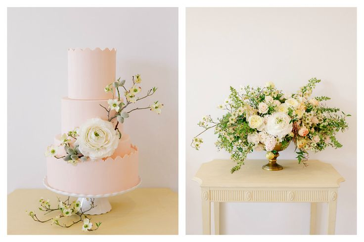 Karin Woodward of Haute Horticulture Floret Flowers Blog Photo: Annabella Charles Photography Cake: The Flour Garden Table: Prop Cellar Maggie Louise Bridal