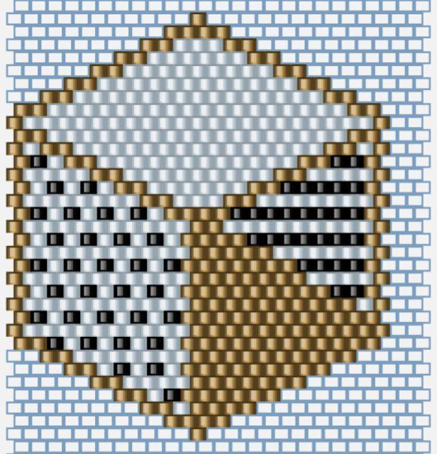 Hexagone en perles                                                                                                                                                                                 Plus