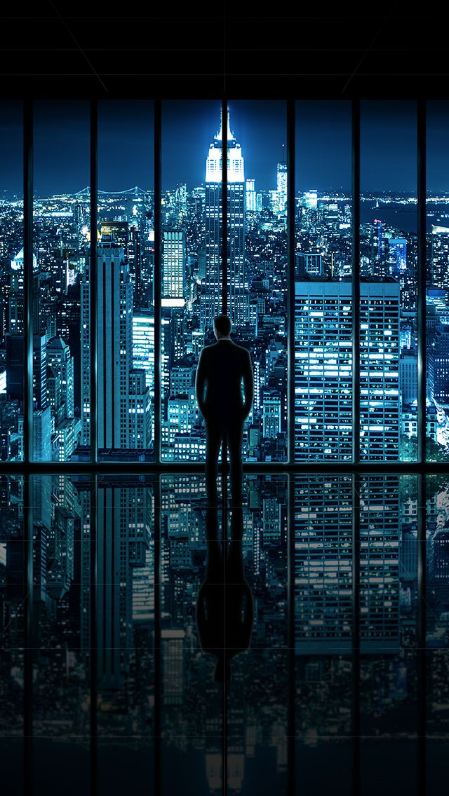 Window to Gotham City - by Dominic Kamp   #wallpapers #iphone5