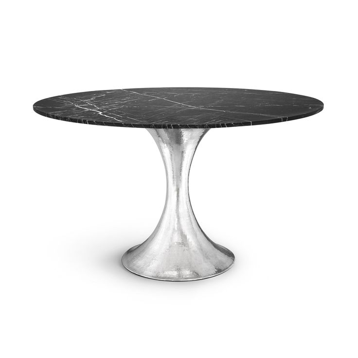 Stockholm Dining Table Base (Top sold separately), Nickel - Bungalow 5