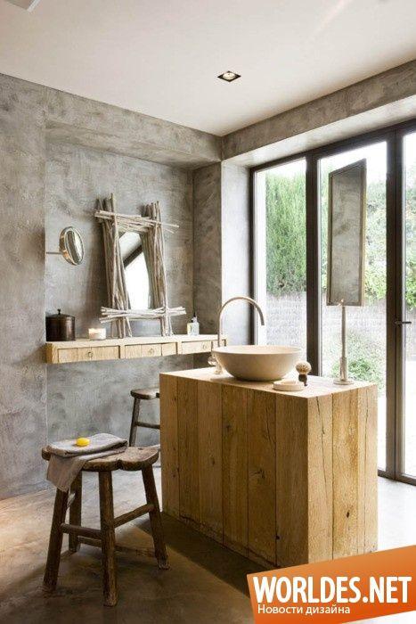 Очаровательные ванные комнаты в деревенском стиле фото 1