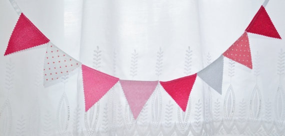 Fiesta mini banner Party 8 flags Garland 29 by IzabelleCollections, $11.00
