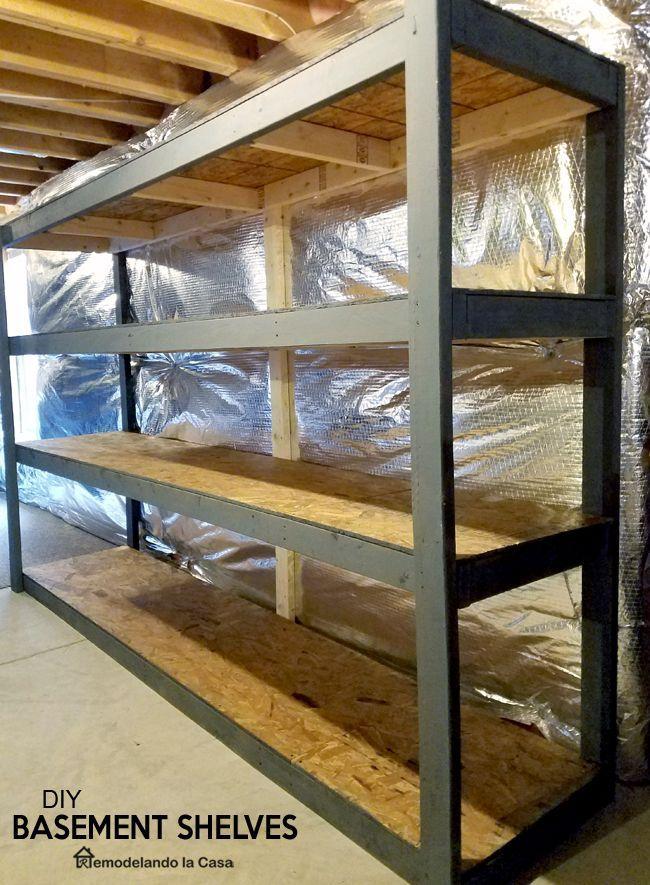 Diy Basement Shelves With Video Etagere Garage Rangement Au