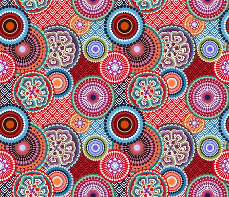 eclectic_flowers_little fabric by chicca_besso on Spoonflower - custom fabric