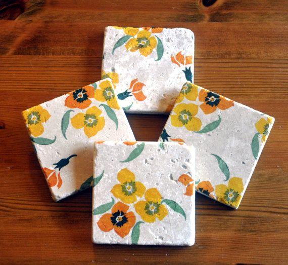 Emma Bridgewater Style Yellow Wallflower by DevonMadeDesigns
