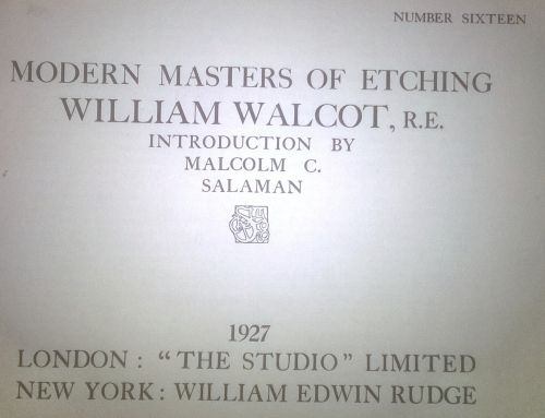 Buy Very Rare William Walcot Reproduced Prints / Etchings. Published 1927. View Picturesfor R1,000.00