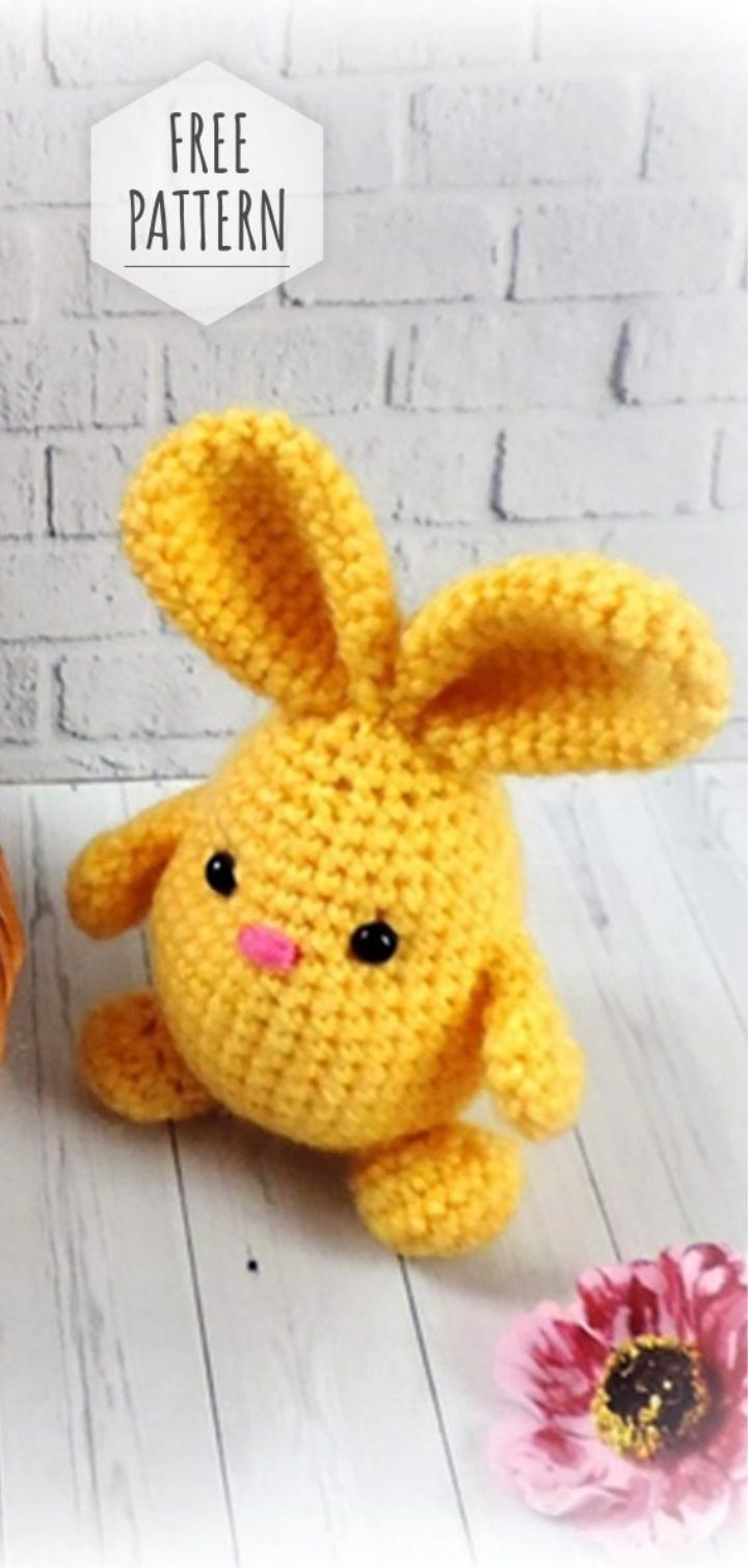 Easter Bunnies Free Pattern and Video Tutorial | 도안 | Pinterest ...