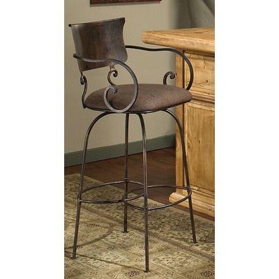 Artisan Home Furniture Cantina Swivel Barstool With Light