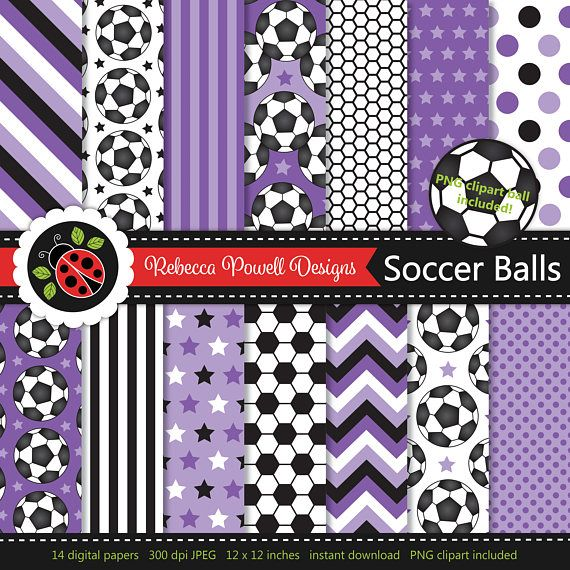 Soccer/ football digital paper set which includes a clipart PNG soccer ball! Great for crafts, scrapbooking, commercial and digital use. Available from Etsy & Teachers Pay Teachers #etsy #etsyseller #etsyshop #teacherspayteachers #soccer #football #sports #supplies #commercialuse #pattern #digitalpaperset #printablepapers #papers #crafts #scrapbooking #soccerballs #footballs #digitaldownload #digitalbackgrounds #purple #clipart #resources #instantdownload #jpeg #png #stars #spots #stripes