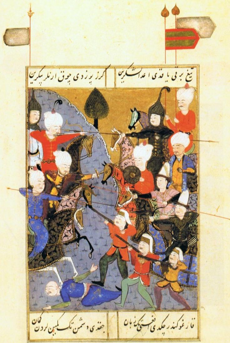 Şūkrī-i Bitlisī Selīm-nāma - Selim I fighting his brother Ahmed