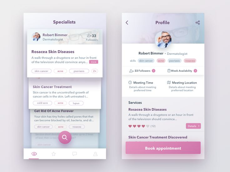 Hey guys, hope your doing great.  Today I want to share with you a couple screens from an amazing project I'm working on these days: these comes from a mobile app which let users find specialised p...