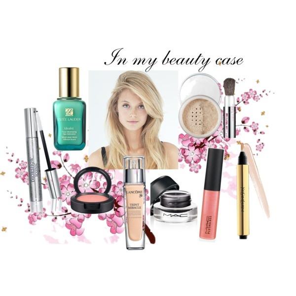 Alles voor mijn dagelijkse make-up: Idealist van Estee Lauder, Teint Miracle van Lancôme, Touche Eclat van YSL, poeder van Clinique, Naked oogschaduwpalet van Urban Decay, mascara van Dior, eyeliner, blush en lipgloss van MAC.