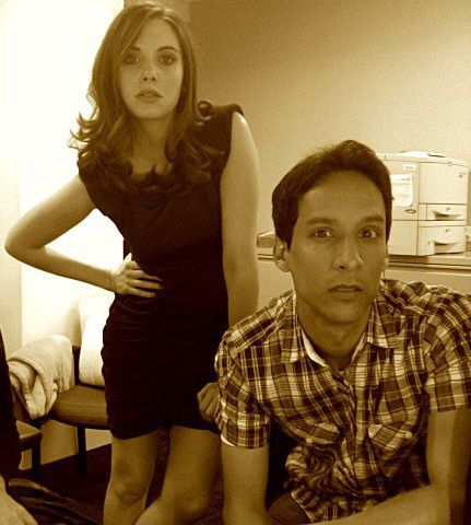 Alison Brie & Danny Puddi behind the scenes of Community.
