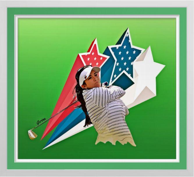 Gerina Piller - Golf Art Print. Original golf art by Roger Smith. Gerina Piller. Stars of the LPGA. Reproduced on Premium Canvas http://www.zazzle.com/gerina_pillar_golf_art_on_canvas_print-228289060930307773 #golf #art #print #RogerSmith #GerinaPiller